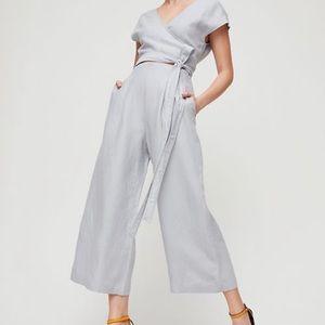 Aritzia Wilfred Brax Jumpsuit light grey